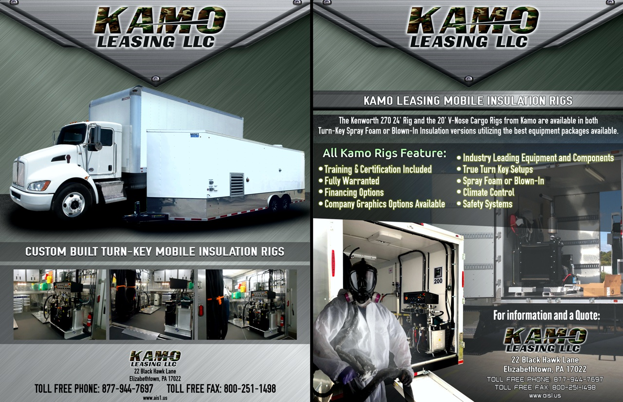 Kamo Leasing Mobile Insulation Rig Brochure
